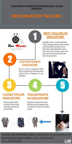 Best Tailors in Singapore | Pants | Men Suits  Ron Master Tailors is specialized in providing custom shirts for men and ladies.  We are a team of best tailors in Singapore who are in tailoring field from past 30 years and are providing clothes in finest fabric.