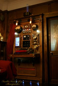 Steampunk Time Machine Control Panel.
