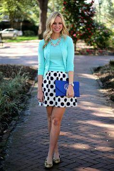 Short polka dot skirt