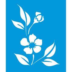 Stencil Opa 20x25 - Flor Peonia Chinesa OPA1021 - Stencil - Artistas do Mundo - Materiais Artísticos e Artesanato