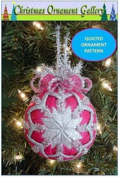 Christmas Ornament Christmas Ornament Pattern Quilted