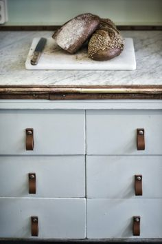 leather handles for your kitchen