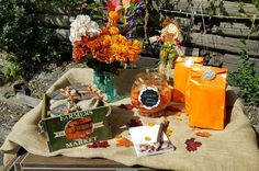 Guess how many game at a pumpkin baby shower party! See more party ideas at CatchMyParty.com!