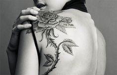 rose tattoo on back shoulder - Google Search
