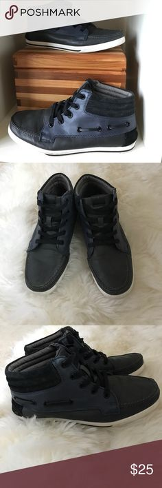 Navy blue Aldo kicks Super cute and comfortable Aldo sneaker/boots. Style them with anything in your closet! Men's size 7 - women's 9. Aldo Shoes