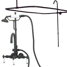 clawfoot tub shower kit with gooseneck faucet elizabethan classics