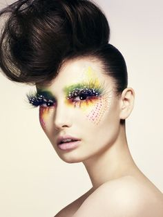 creative eye makeup | Amazing beauty shot photographed by Jon Compson for The Sunday Times ...