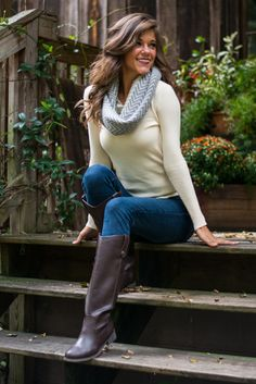 Geek Chic Sweater, Cream from The Mint Julep Boutique