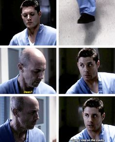 [gifset] 5x11 Sam Interrupted #SPN #Dean #crazyDean