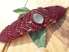 Bracelet macramé Crystal Quartz micro macramé par SelinofosArt