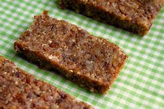 Making your own healthy, homemade version of popular snack and energy bars can be easily made in 10 minutes! These no bake, no cook bars are made with coconut oil and dried coconut and are gluten free, diary free, wheat free, grain free, cane sugar free and quick and easy to make!