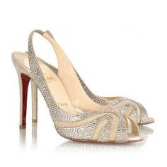 Fashion 100mm Silvery Christian Louboutin Sandals...   StyleCaster