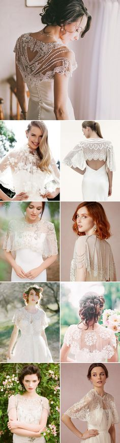 When we think about autumn brides, one of the loveliest wedding trends coming through this season has to be the stylish bridal cover ups! From bridal boleros, capes, sheer wraps and more, there are ma (Off The Shoulder Top With Jacket) Wedding Cape, Wedding Jacket, Bridal Cape, Fall Wedding Dresses, Wedding Attire, Wedding Bride, Bridal Dresses, Wedding Gowns, Wedding Trends