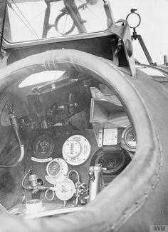 Close-up of S.E.5a cockpit