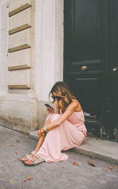 Cool summer look in Paris