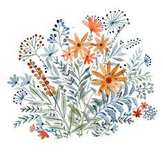 "vikkichu: ""Wild Flowers I'm selling originals at my shop: https://www.etsy.com/shop/VikkiChu """