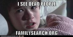 """I see dead people""- Haley Joel Osment, The Sixth Sense, 1999 Funny Mormon Memes, Lds Memes, Funny Quotes, Tv Quotes, Random Quotes, Dale Carnegie, Fake People, Funny People, Oscar Wilde"