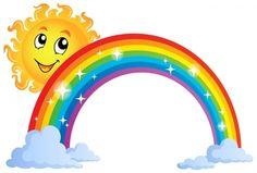 Browse the «Circle Clipart Rainbow Rainbow Theme, Rainbow Colors, Sun Doodles, Rainbow Cartoon, Arte Quilling, Arrow Nursery, Rainbow Images, Rainbow Clipart, Sunshine Birthday