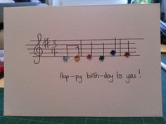 Birthday Cards Notes ~ This birthday card makes the music nerd in my very happy could