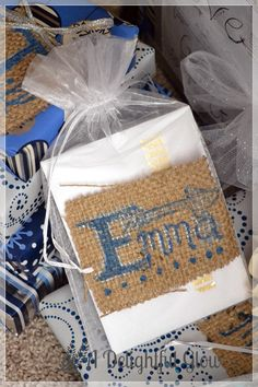Christmas Gifts with Burlap Name Tags | A Delightful Glow