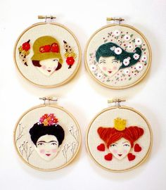 Enchanting hand embroidery combined with felt applique ...