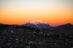 HOME Sunset in La Paz, Bolivia
