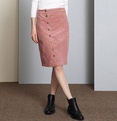 Saia 2017 Spring vintage fashion corduroy high waist midi skirt winter pencil skirts black gray pink sexy skirts plus size B138
