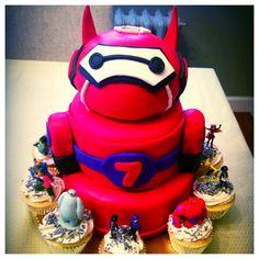 Big hero six 6th Birthday Parties, Birthday Fun, Birthday Cakes, 6 Cake, No Bake Cake, Unique Cakes, Creative Cakes, Big Hero 6 Party Ideas, Superhero Cake