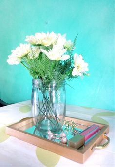 Make Your Own Mirrored Frame Tray