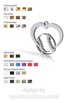 Softball or Baseball Heart Necklace by Sports Art Zoo Softball Jewelry, Softball Gifts, Softball Pitching, Sports Art, Sports Teams, Metal, City Girl, Colleges, Dorm Room