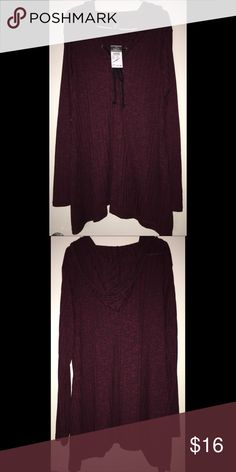 BRAND NEW Rue 21 Tunic top ❤️ BRAND NEW‼️ Rue 21 Tunic top. Perfect for Fall!  Tag still attached. NEVER worn! Size XL. Burgundy color with tint of black. Rue 21 Tops Tunics