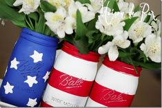 American Flag Mason Jar - Mason Jar Crafts Love