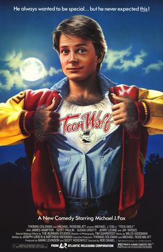 Teen Wolf (1985) PG - Just because you're a supernatural creature of the night is no reason to undervalue the importance of high school sports. Surfing Photos, Wolf Love, Movie Posters, Movies, Michael J, Teen Wolf, Fox, 2016 Movies, Films