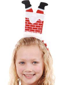 Santa in Chimney Headband #Christmas