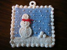 Receitas de Crochet: Pegador natal