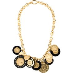 Pre-owned Prada Resin Medallion Chain Necklace ($1,125) ❤ liked on Polyvore featuring jewelry, necklaces, medallion necklace, pre owned jewelry, chain jewelry, rolo chain necklace and medallion jewelry