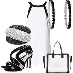 """""""a little B and W"""" by christa-tillman on Polyvore"""
