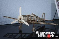 EngraversNetwork.com | Wood cut airplane