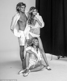 Modelling trifecta! Jordan Barrett, 21, has shared a snap from behind the scene of an excl...