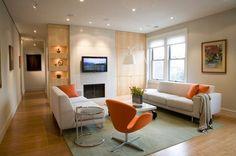 Swan Chair in Living Room