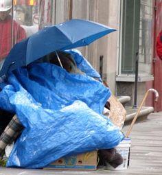 Homeless women in hard weather