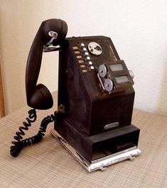 Vintage Stamping Phone  National Cash Register by Retrofi on Etsy, $66.00
