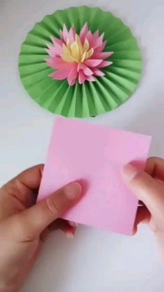 You'll be amazed at how simple this beautiful origami lotus flower is to make with just a few cuts, folds and a little added creativity!---- More DIY Ideas ---- This is easy craft of paper origami that kids can make, and most of all, it's useful Paper Flowers Craft, Paper Crafts Origami, Paper Crafts For Kids, Origami Art, Flower Crafts, Diy Flowers, Diy Paper, Paper Crafting, Origami Flowers