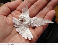 Ozdoby i ptaki z papieru, papierowe kolibry | Designsek… na Stylowi.pl