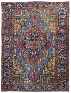 Persian Heriz Rug Circa 1920