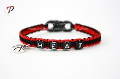 Miami Heat Fan Bracelet Basketball Fan Bracelet by PearlTwinkle