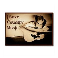 I Love Country Music Kitchen Magnet I designed for my Cafepress Shop: The Perfect Gift