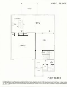 Mabel Bridge 238.2431 First Floor Plan in Orlando FL