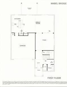 Mabel Bridge 238.2431 First Floor Plan in Orlando FL