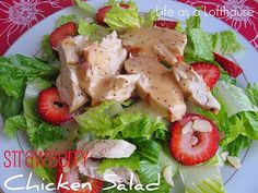 Strawberry Chicken Salad ~ the dressing is yummy!